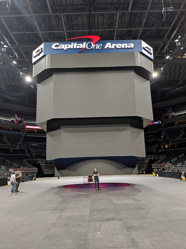 Capital One Arena with Team